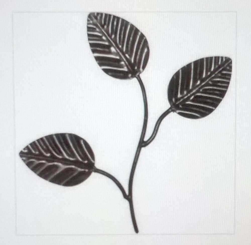 Rose sur tige avec feuilles fer forgé