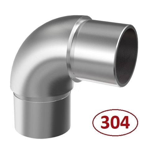 Codo 90º Ø -33,7mm de acero inoxidable