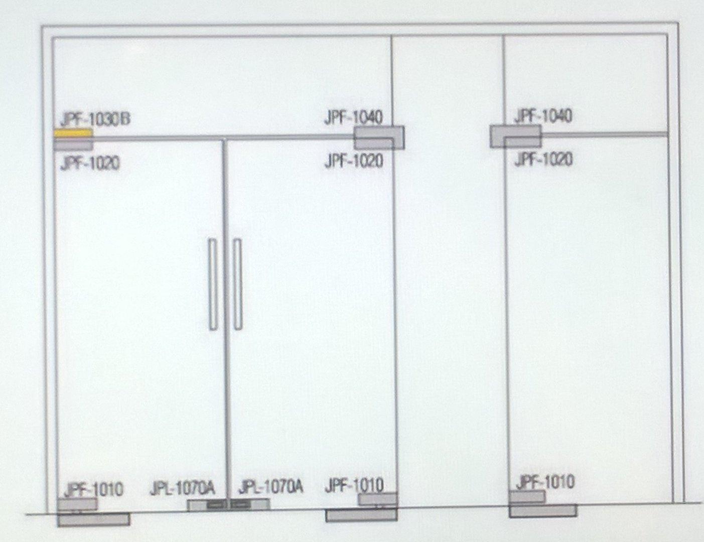soporte recto para montar bisagra de puerta arriba montado al cristal superior